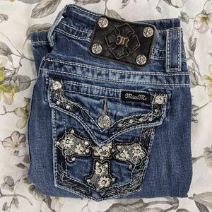 Miss Me Boot cut Cross flap pocket 27